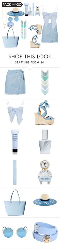 """""""greek"""" by dreamer3108 ❤ liked on Polyvore featuring Topshop, Ralph Lauren, Givenchy, Essie, Marc Jacobs, Kate Spade, Versace, Packandgo and greekislands"""