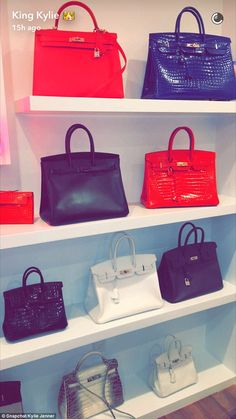 8c65f86a943e Bags on bags on bags  Kylie Jenner showed off the Hermès wall in her mom