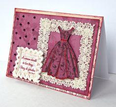 Vintage Lace/ 50's dress card I made