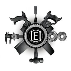 Logo for a machinist, woodworker and artist. Jon Erik Johnston//