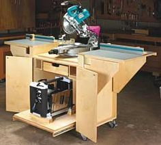 11 Free Miter Saw Stand Plans + 9 Pictorial Idea Guides, 2 Videos, 6 Paid Plans and MORE! |