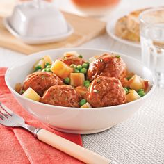 Casserole de boulettes de veau - Je Cuisine Beef Recipes, Cooking Recipes, Restaurant Drinks, Fish And Meat, Potato Salad, Main Dishes, Good Food, Food And Drink, Healthy Eating