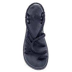 01384d355cf0d0 COOLSA New Fashion Women Flat Sandals Denim fabric Rubber Hand Weave Sandal  Elastic Band Female Soft Outdoor Casual Beach Shoes