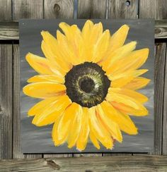 Sunflower Painting on Wood Panel Original by ClarabelleArte Cute Canvas Paintings, Easy Canvas Painting, Diy Canvas Art, Easy Paintings, Painting On Wood, Painting Flowers, Canvas Decor Diy, Canvas Ideas, Wall Decor