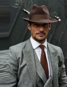 The Wyatt fedora is made from Australian crushable Wool. Official Online Store of Conner Hats. Sharp Dressed Man, Well Dressed Men, Old School Style, Michael Louis, David Gandy, Mens Fashion Suits, Men's Grooming, Gentleman Style, Look Chic