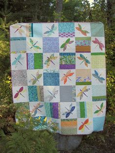 Dragonfly quilt | Flickr - Photo Sharing!