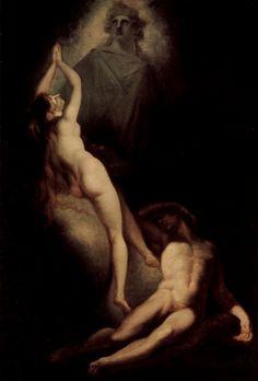 Henry Fuseli (Swiss [Romanticism] The Creation of Eve from Milton's Paradise Lost, Art Romantique, Milton Paradise Lost, Adam Et Eve, William Blake, Garden Of Eden, Caravaggio, Art For Art Sake, Sacred Art, Supernatural