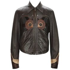 Preowned Rare Tom Ford For Gucci Runway Men's Leather Western Jacket... ($4,195) ❤ liked on Polyvore featuring men's fashion, men's clothing, men's outerwear, men's jackets, black, jackets, mens cowboy jackets, mens western leather jackets, mens real leather jackets and mens jackets