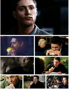 Dean + food= a true love story.  I generally don't like watching people eat.  Dean is the only exception- he so genuinely enjoys food, that you can't help it!
