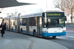 Luzern, Swiss. Hess double articulated trolley bus