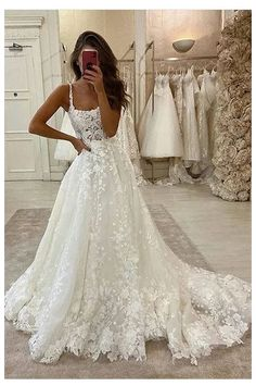 Cheap Lace Wedding Dresses, Wedding Dress Train, Cute Wedding Dress, Dream Wedding Dresses, Gown Wedding, Wedding Rings, Wedding Cakes, Backless Wedding, Wedding Night