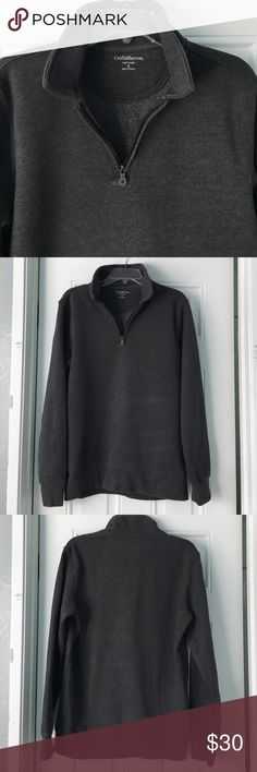 Men's Dark Gray Sweater This men's heather gray sweatshirt is perfect for the fall and wonder. It is very comfortable and soft on the inside. It comes in a size small and is 60% cotton and 40% polyester. Let me know if you're interested! croft & barrow Sweaters