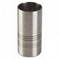 Vaso medidor o jigger 25/50 ml, es un elemento muy útil para medir las cantidades de los líquidos que se usan en la elaboración de cócteles o gintonics.  http://www.ilvo.es/es/product/vaso-dosificador-doble-2550-