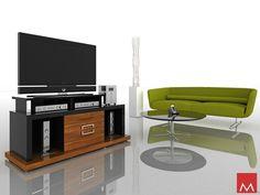 Mod Loft Vector TV Stand in Imbuia - Black #home #furniture #modern #livingroom