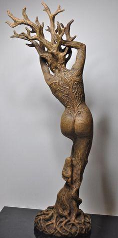 Dryad Statue by Dellamorteco on Etsy