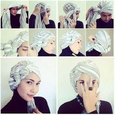 turban idée   Hijab Fashion - Top 10 Des Plus Beaux Tutoriels De Hijab Turban Facile ...