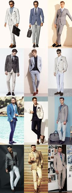 Men's Summer Business Wardrobe Updates: Formal with Summer Colour Lookbook Inspiration