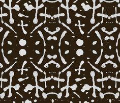 Mudcloth  (chocolate) fabric by mariden on Spoonflower - custom fabric