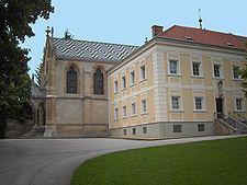 Hunting lodge and Carmelites church at Mayerling