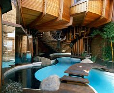 Small Indoor-Outdoor Pool. Wiggle Your Feet.