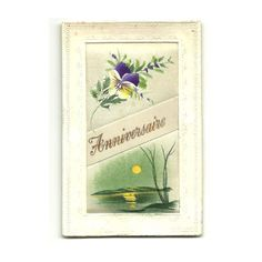 French Hand Painted Postcard Happy Birthday by LaBelleEpoqueDeco