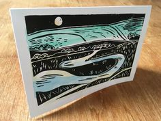 Cuckmere Haven Lino Print-Sussex Landscape