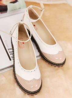 Sen female line round thick heel platform shoes casual shoes spell color patent leather shoes School shoes doll shoes small wind - ZZKKO http://zzkko.com/n232811 $ 24.66