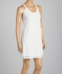 Another great find on #zulily! White Sheer Embroidered Tunic by Coline USA #zulilyfinds