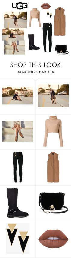"""""""The New Classics With UGG: Contest Entry"""" by iremissy on Polyvore featuring moda, UGG, Balmain, Alexander Wang, Diane Von Furstenberg, Yves Saint Laurent, Lime Crime ve ugg"""
