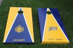 Naval Academy cornhole sets