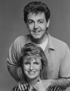 Paul & Linda McCartney -- the body language with them consistently shows their deep love for one another.