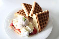 Ice cream and waffles.