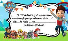 invitacion-tarjetita-patrulla-canina-paw-control Paw Patrol Birthday Cake, Paw Patrol Party, Parol, Ideas Para Fiestas, Galaxy Wallpaper, 2nd Birthday, Mickey Mouse, Baby Shower, Invitations