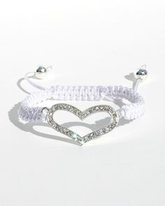 Adjustable Heart Macrame Bracelet.  Fits 4 years & up. Shayzee.com