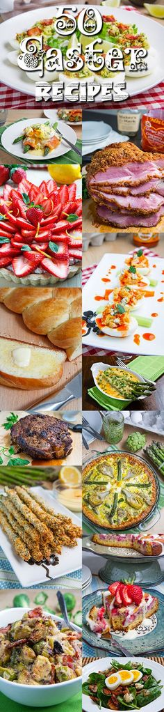 50 Easter Recipes ~ No matter what your plans are for your Easter weekend dining, you cannot go wrong with one or more of these tasty dishes!