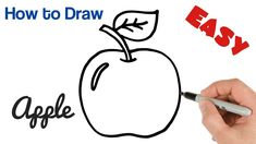 How to Draw an Apple Easy Art Tutorial for Beginners Easy Art, Simple Art, Easy Drawings For Beginners, Art Tutorials, Apple, Apples, Art Lessons, Drawing Tutorials