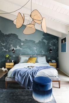 Vanessa Pisk Studio   FROM FACTORY TO HOME Scandinavian Bedroom, Bedroom Vintage, Minimalist Bedroom, Bedroom Wallpaper, Wallpaper Ideas, Room Decor, Studio, Architecture, Interior