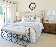 Crisp, Clean, Natural Bedroom, via birch & lily