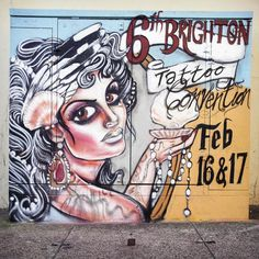 Brighton street-art / graffiti: Tino Photography - 6th Brighton Tattoo Convention (2013)