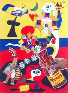 Sir Eduardo Paolozzi, 'Sack-o-sauce' 1948  Printed papers on card.. from Ten Collages from BUNK
