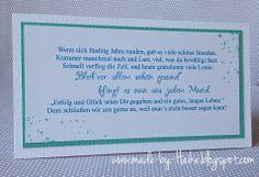 """Meine kreative Welt...: """"Zum 50. Geburtstag""""..."""
