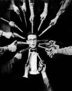 harold lloyd- my silent film crush. he's cute, dorky, and unbelievably hilarious. i've never seen a funnier comic. he doesn't even have to speak to keep me in stitches!