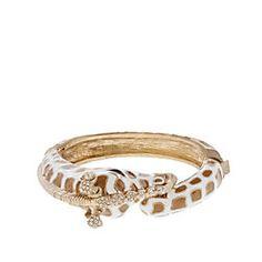 Bracelets and Bangles Look - Enameled giraffe bangle Jewelry Box, Jewelry Accessories, Women Jewelry, Giraffe Ring, Giraffe Art, The Bling Ring, Bling Bling, Animal Jewelry, Giraffe Jewelry
