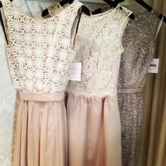bridesmaids dresses- I like the idea of each dress being different