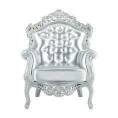 Fauteuil argent Barocco