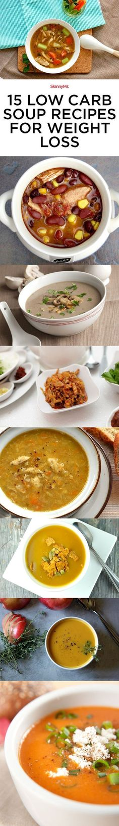 We've compiled a list of 15 Best Low-Carb Soups for Weight Loss. #weightloss #cleaneating
