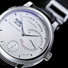 A. Lange & Sohne Lange 31 Ref 130.025.  The world's first mechanical wristwatch with a power reserve of 31 days and a constant-force escapement that powers the going train with constant torque delivery. The tremendous amount of energy needed to keep the watch running so long is transferred to the movement with a winding key and stored in a twin mainspring barrel.