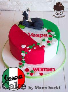 Vespa Cake Motivtorte Mann backt (1 von 2)