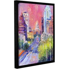 ArtWall Svetlana Novikova Austin Downtown Gallery-wrapped Floater-framed Canvas, Size: 18 x 24, Multicolor