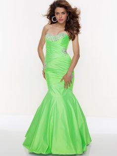 Mermaid Green Long Prom Dress Formal Dress/ Homecoming Dress Parai 93061